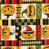 Riley Blake Halloween-Kürbis-Quilt-Stoff, Baumwolle, Fat