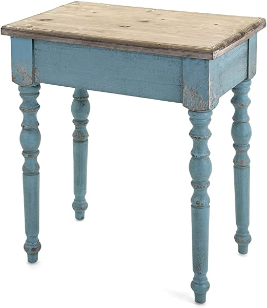 Imax 14098 Accent Wooden Console Brown Blue