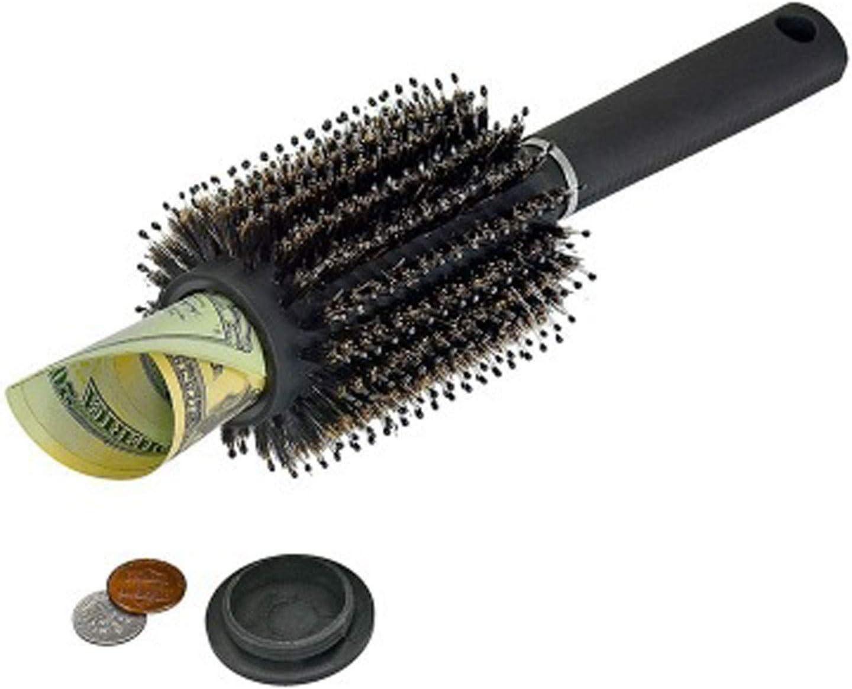 QQyh Portable Simulation Hair Brush Hollow Secret Safe Storage Popularity Max 64% OFF