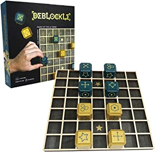 Deblockle Strategy Board Game   2 Player Table Game, Room Décor, for Chess Players & Strategy Gamers