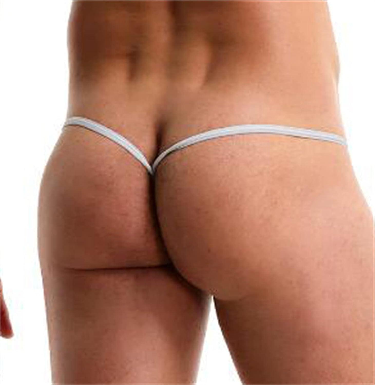 JUDRR 3Pcs Men's U Convex Breathable Sexy T-Pants, Elastic Ice Silk Ultra-Thin Thong, Translucent Erotic Seamless