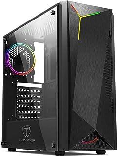Gabinete Gamer T-Dagger TGC-G28B Preto RGB Sem fans