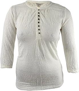 Lucky Brand Women's Novelty Mixed Knit Top