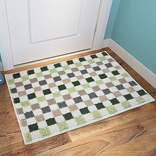 ZHOUAICHENG Baumwolle Teppiche Karierten Teppich Fußmatte für Küche Teppich Bad Outdoor Veranda Wäscheservice Wohnzimmer werfen Matten waschbar,B,50 * 150cm