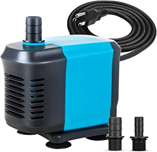 KEDSUM 550GPH Submersible Water Pump(2500L/H,40W), Ultra Quiet Submersible Pump with 5ft..