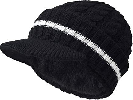 VECRY Men's Knit Cable Newsboy Cap Cadet Cabbie Peak Cap Winter Hat