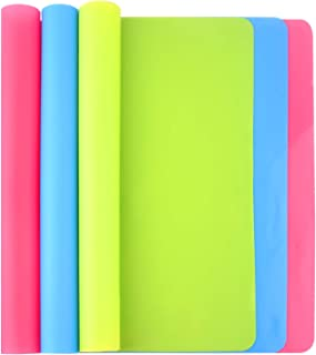 FEPITO 3PCS A3 Large Silicone Sheet for Crafts Jewelry Casting Molds Multipurpose Silicone Mat, Reusable, Waterproof, Heat...