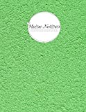 Meine Notizen: Green (Großes Notizbuch Blanko) 150 Seiten Softcover glänzend II @Cherieeearts
