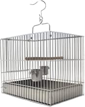 Xinxinchaoshi Stainless Steel Bird Cage Bird with a Bath Cage Out of The Travel Cage Easy to Clean (Square) (Size : 27cm high)