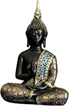 Flameer Seated Buddha Statue Meditating Harmony Peace Sculpture Resin Car Ornaments