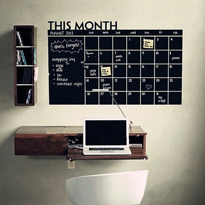 The Best Monthly Chalkboard Chalk Blackboard Wall Sticker Decor