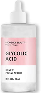 Rejuvenating Glycolic Acid Face Serum - Hyaluronic Acid, Vitamin C and Aloe Vera Helps Exfoliate and Minimize Pores, Reduce Acne, Breakouts, and Appearance of Aging and Scars - 2 Fl Oz
