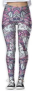 XMKWI Aztec Elephant Women Power Flex Activewear Yoga Pants Workout Tights Leggings Trouser