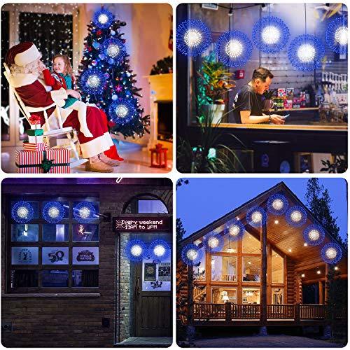 Kriogor 2 catene luminose a LED, 198LED, illuminazione natalizia esplosiva, con telecomando