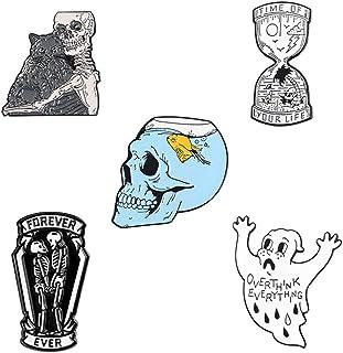 WLLAY Punk Retro Cool Skull Human Skeleton Dangle Earrings Jewelry