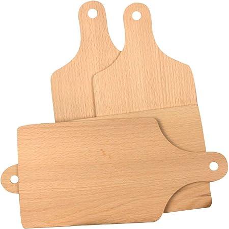 Kitchen Beech Wood Rectangular Bread Serving Board Cutting Chopping Board  T