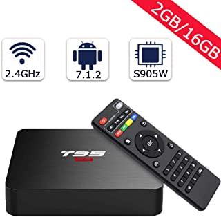 T95 Android TV Box with 2GB RAM 16GB ROM Quad -core, Support 2.4G Wifi /4K Full HD/H.265/3D Output Mini Media player