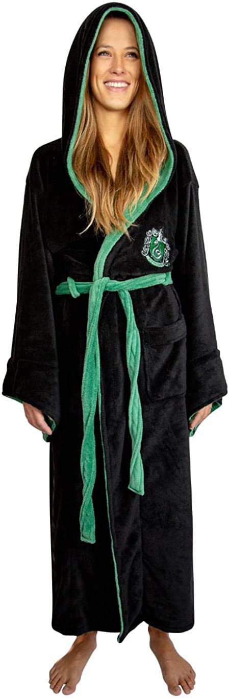 Industry No. 1 Harry Potter Slytherin Adult Fleece One Bathrobe Size OFFicial mail order Hooded