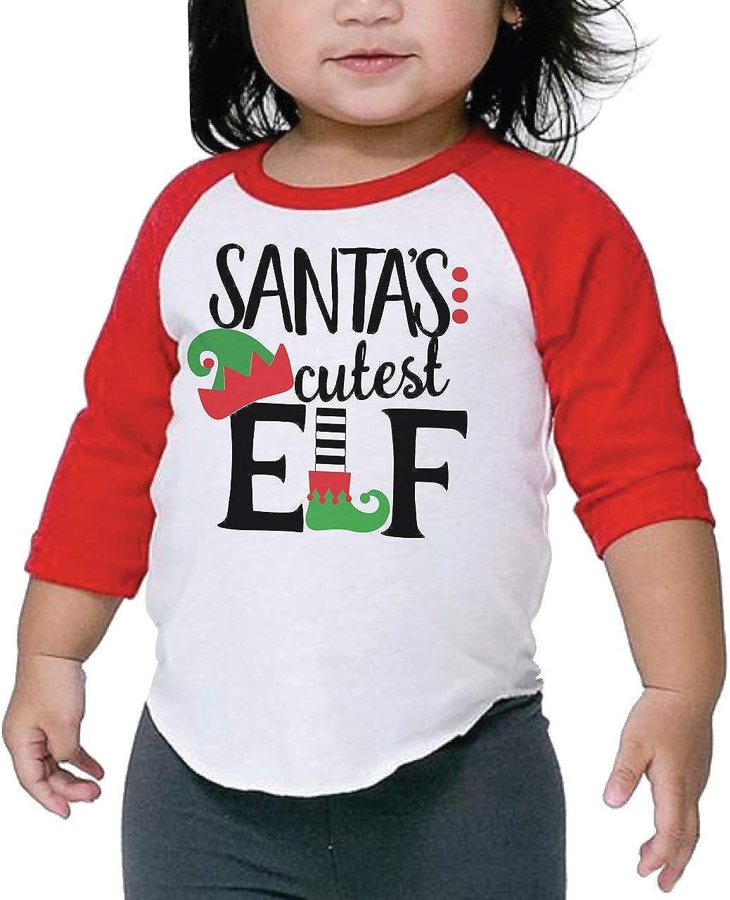 Bump and Beyond Designs Kids Santa's Cutest Elf Shirt