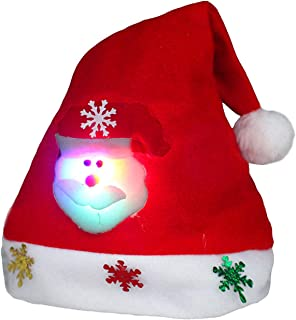 e571596dc4afe lomas Chapeau de Noël Bonnet Père Noël Déguisement Noël Enfant Adulte Bébé  Fille Garçon
