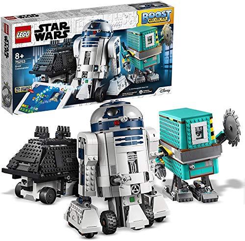 LEGO Star Wars Comandante Droide BOOST, 3 Giocattoli Robot in 1, Comprende R2-D2, Robot Interattivi Programmabili Controllati via App, Set di Codifica per Bambini, 75253