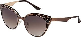 Sky Vision Cat Eye Sunglasses for Women, Brown Lens, SK9632
