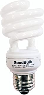 13 Watt Compact Fluorescent Bulb - Warm White Light Bulb - Ultra Mini Spiral CFL Light Bulbs - 2700K - E26 Base - 4 Pack -...