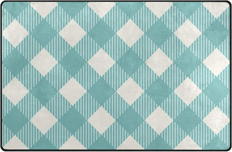 DEZIRO Fresh Green Trellis Diagram Polyester Floor Mats Entry Way Area Rug Doormat Carpet shoes Scraper Home Dec Anti-Slip Washable