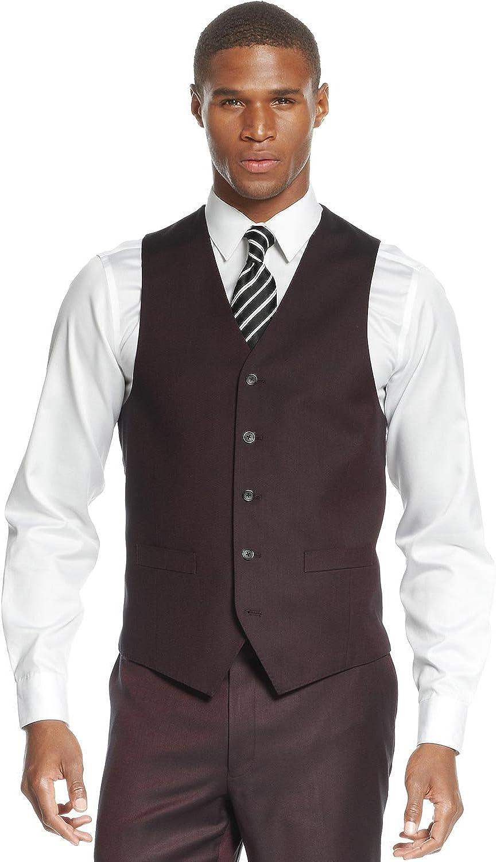 Sean John Red Wine Sharkskin Vest