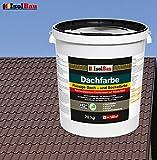 Dachfarbe Sockelfarbe Dachbeschichtung Dachlack Dachsanierung Polymermembran 20 kg Braun