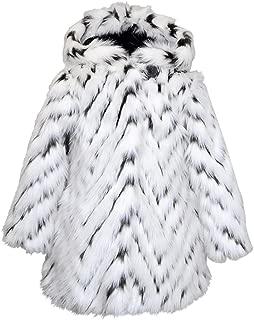 Girls' Faux Fur Flounce Skirt Bottom Coat and Hat