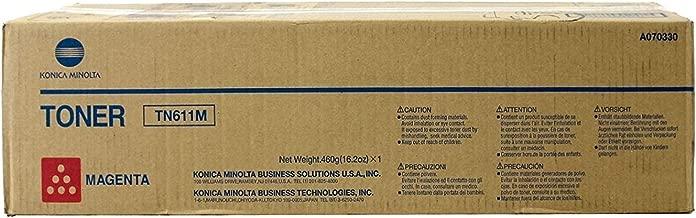 Konica Minolta A070330 / TN611M Magenta Laser Toner Cartridge, Works for Bizhub C451, Bizhub C550, Bizhub C650