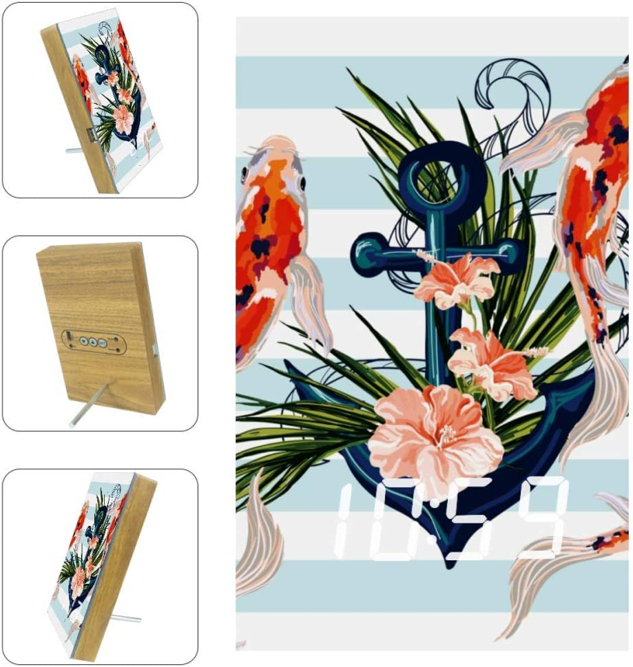 XJJUSC Koi and Flowers LED Countdow Wall Functional Clock Cash Topics on TV special price Multi