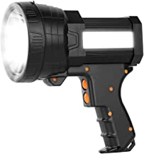 Super Bright Handheld Flashlight Rechargeable Marine Spotlight with High Lumens CREE LED, 9600mAh Long Lasting Portable Se...