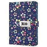 Nainaiwu quaderno record diario con lucchetto bellissimo fiore di...