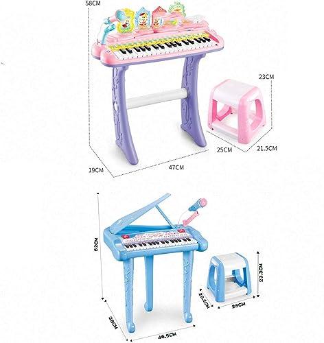 LIPENG-TOY Keyboard Anf er 1-3 Jahre alt Baby Multi-Funktions-Musik Spielen Klavier Kinder Spielzeug mädchen mit Mikrofon kann singen (Farbe   Rosa)