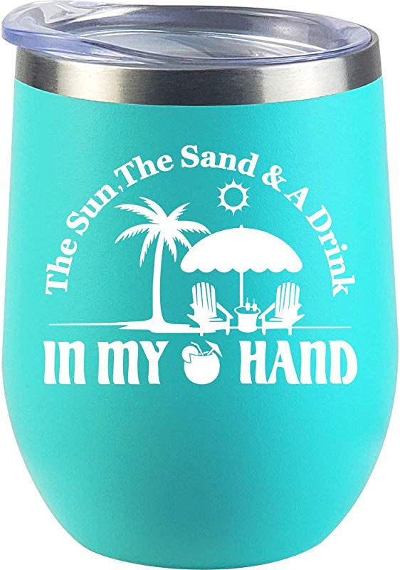 Travel Gifts For Beach Cup Women Men Lake Pool Christmas Gifts Best Friend Wine Glass
