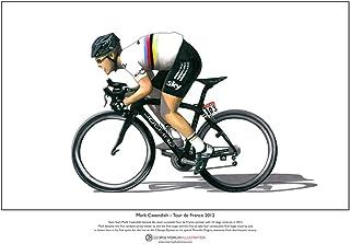 George Morgan Illustration Mark Cavendish – Tour de France 2012 – Begränsad Fine Art Print A3-format