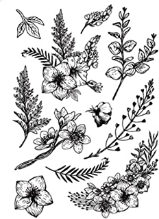 Inkadinkado Meadow Floral Clear Stamp Set 5 pc