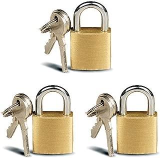 ATB 3 Pc Small Metal Padlock Solid Brass Mini Lock