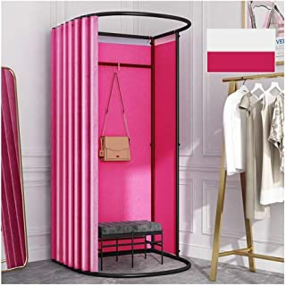 GDMING Clothing Store Fitting Room, Pop Up Changing Room, Portable Dressing Room, Locker Room With Metal Frame Shelf, For ...