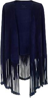 Sponsored Ad - Style à la Porte Claudia Mogollon Women`s Suede Kimono Cape from 100% Calf Leather