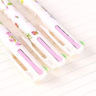 10 Pcs 0.5mm Cute Kawaii Flower Plastic Ballpoint Pen Creative 4 Colors Ball Pen For Kids Korean Stationery