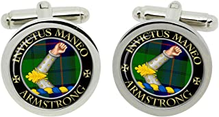 Scottish Clan Surname Armstrong (Vambraced) Crest Cufflinks with Gift Box