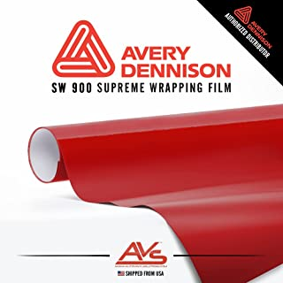 Avery Supreme Wrapping Film Carmine Red Satin Vinyl Car Wrap Sheet - SW900 - 5ft x 5ft (25 sq/ft) (60