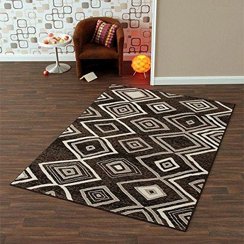 HANSE Home Design velours tapijt vierkant zwart grijs | 102176