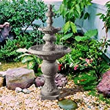 Peaktop VFD8179-UK Icy Stone 2-Tier Waterfall Water Fountain