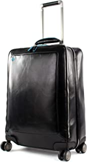 Piquadro Blue Square Valise de Cabine 4 roulettes Cuir 55 cm Compartiment Laptop