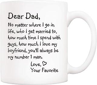 Grappige papa koffiemok - beste vader, waar ik ga in het leven. nummer 1 man. liefde, je favoriete bekers van dochterzoon,...