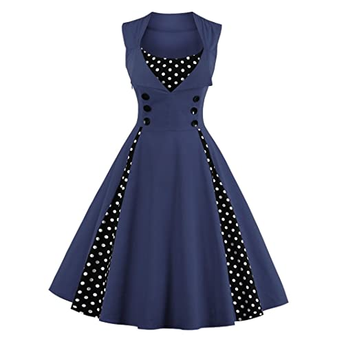 f4c3f829db468 1950s Navy Dresses  Amazon.co.uk